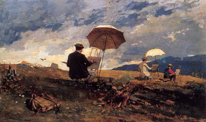 Homer Artists_Sketching_in_the_White_Mountains_1868