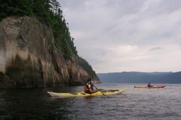 Sea kayaking the Saguenay Fjord, Quebec