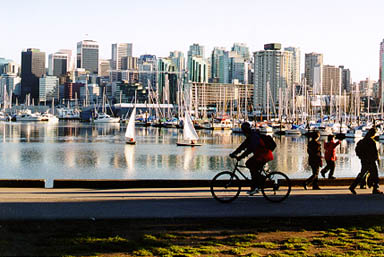 Active Travels By Bike Through Stanley Park Vancouver Everett