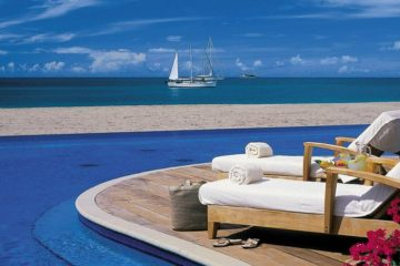 A chaise with a view at Four Seasons Resort Nevis