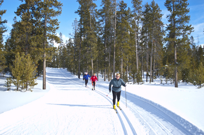 xcountry skking Yellowstone West Yellowstone Nordic Skiing