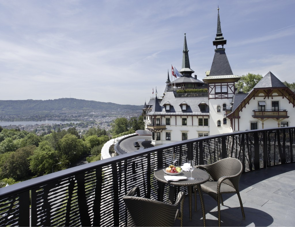 A palatial view from the Dolder Grand, Zurich
