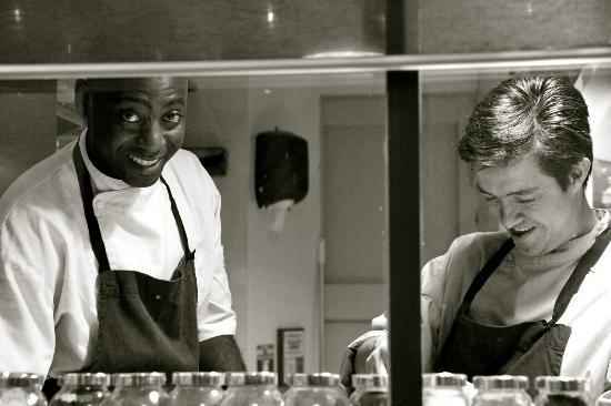 Destin Ekibat, left, and  Santiago Torrijos of L'Atelier Rodier