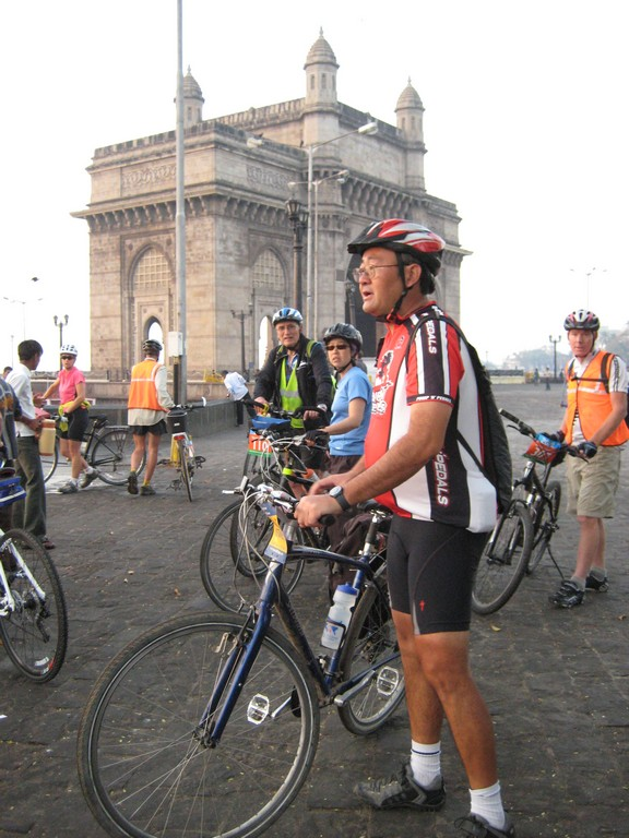 Tour d'Afrique riders in India