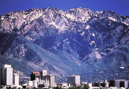 Salt Lake City, with skiing at the city's edge