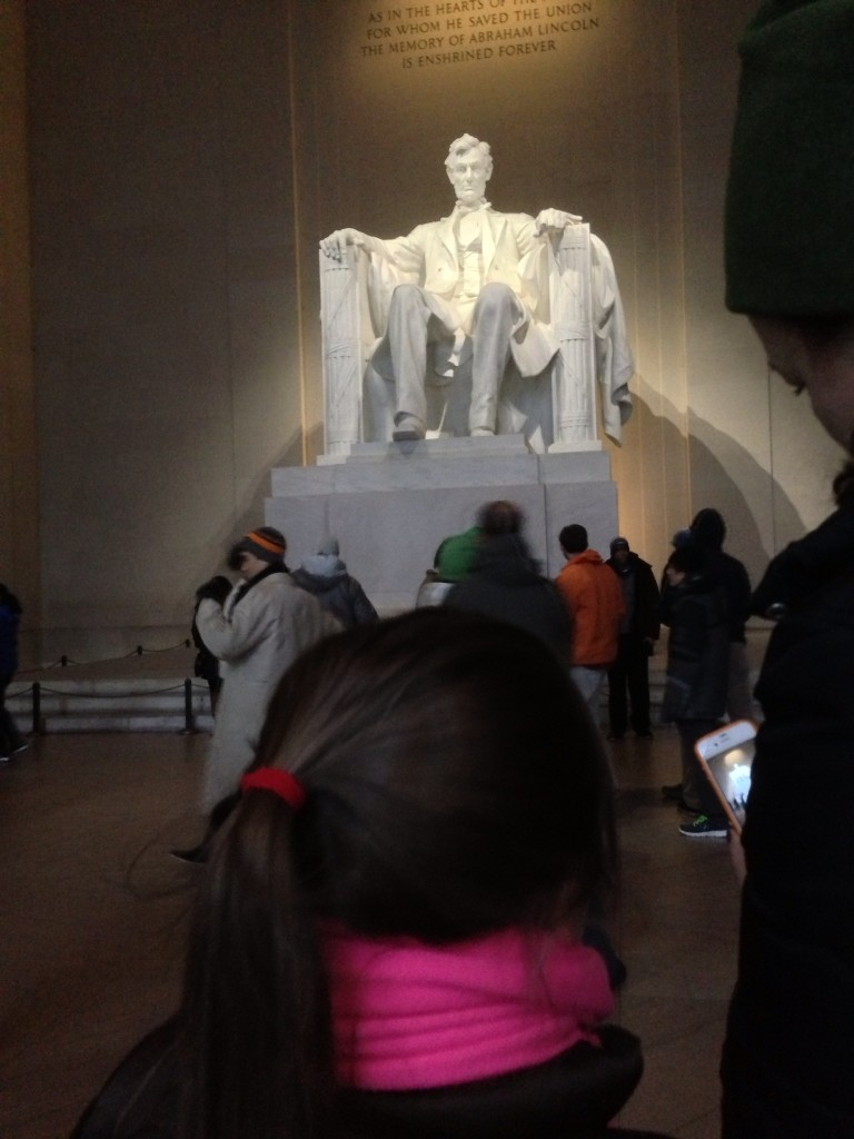 Awestruck at the Lincoln Memorial