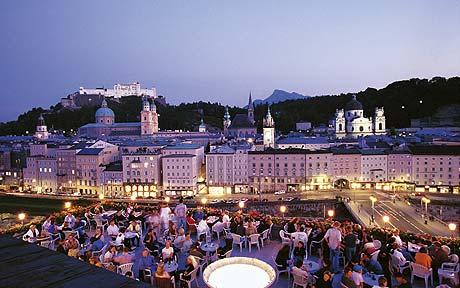 Rooftop bar at Hotel Stein, Salzburg