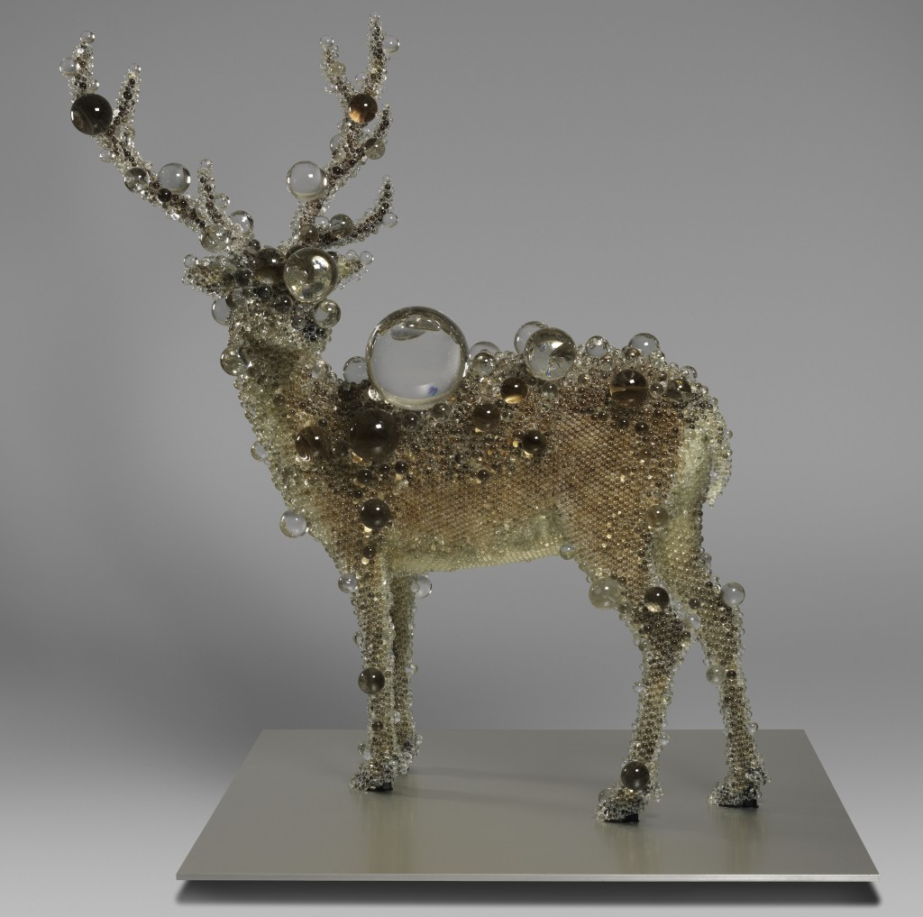 KoheiNawa, Japanese, born 1975PixCell-Deer#24Japan, Heisei period (1989–present), 2011Mixed media; taxidermied deerwith artificial crystal glassH. 80 11/16 in. (205 cm); W. 59 1/16 in. (150 cm); D. 78 3/4 in. (200 cm)Purchase, Acquisitions Fund and Peggy and Richard M. Danziger Gift, 2011