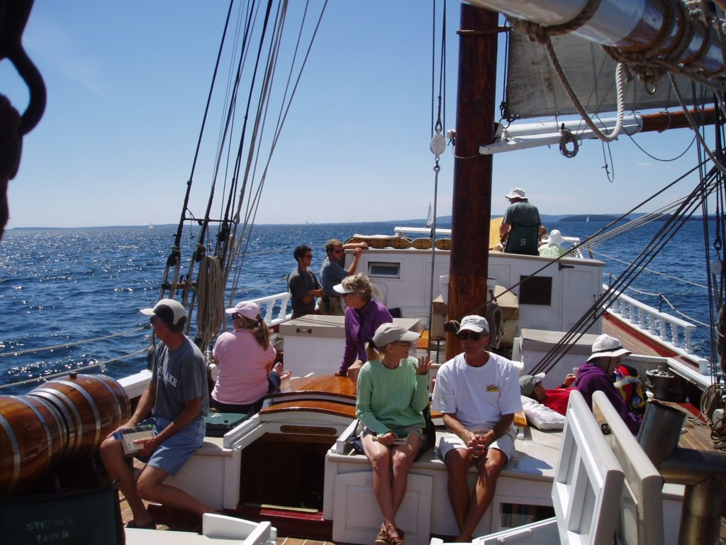 Downeast cruising on the Stephen Taber.