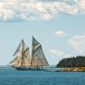 The Schooner Mary Day sailing along the Maine coast. Photo by Fred LeBlanc