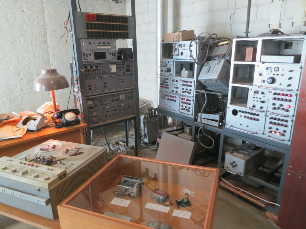 The KGB radio room, from which Soviet agents eavesdropped on guests in the Viru's many bugged hotel rooms and sent coded messages back to headquarters. Photo by Marc Kristal.