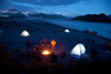 Camping next to the Tatshenshini River in Alaska with O.A.R.S.