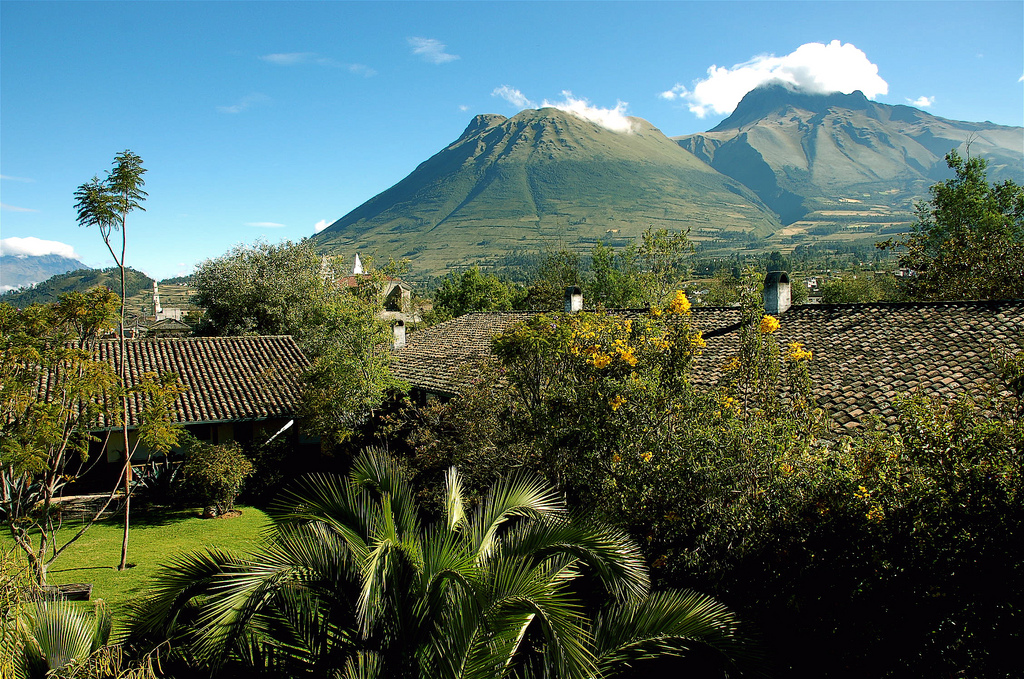 The view from Hacienda Cusin, Ecuador