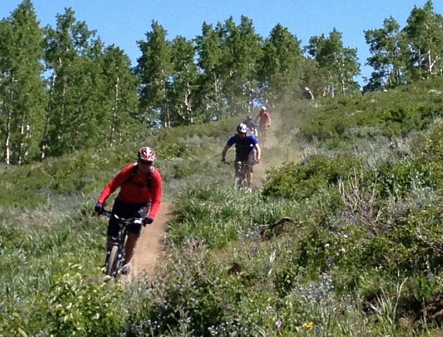 Mountain biking  at Deer Valley, Utah