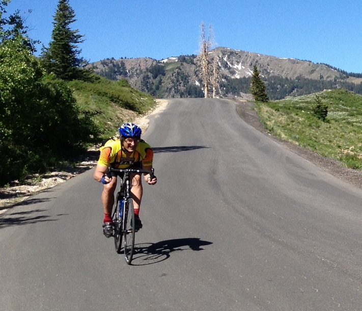 Descending near Guardsman Pass at Deer Valley, Utah