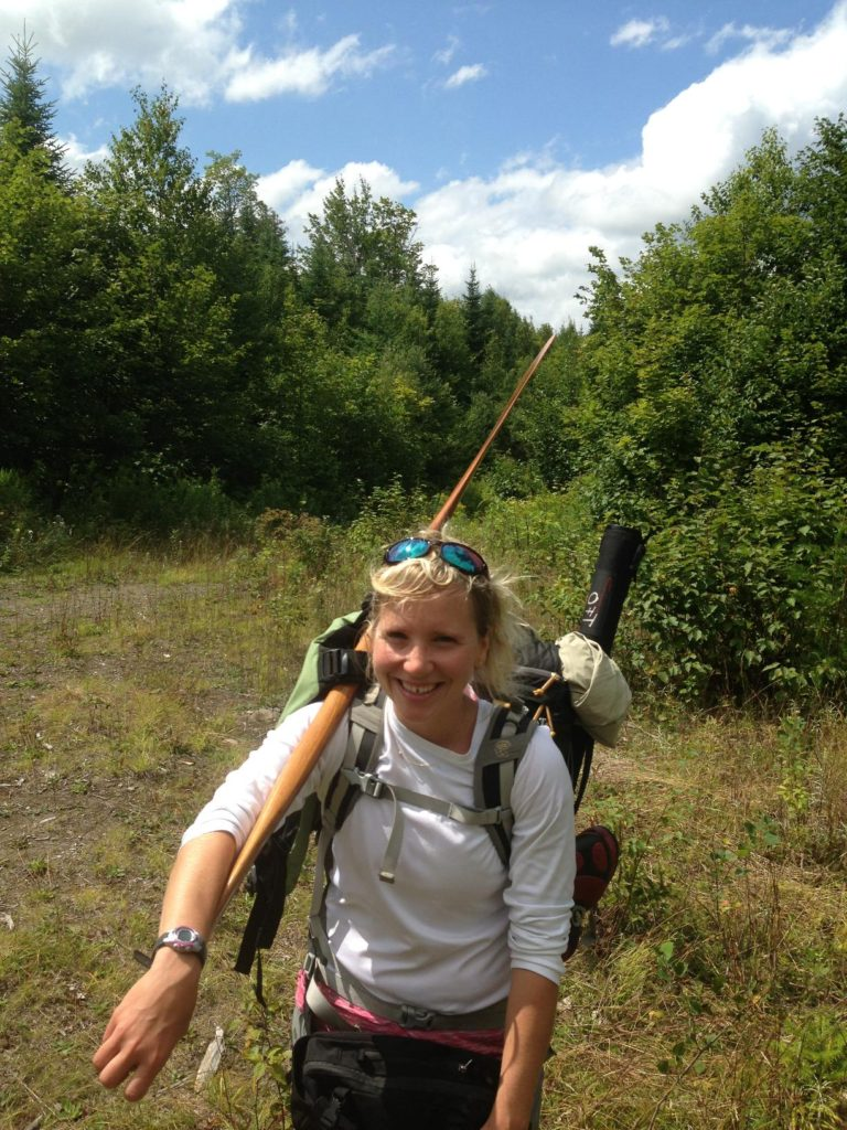 Lani LeCasce, naturalist and Registered Maine Guide at AMC's Little Lyford Lodge & Cabins