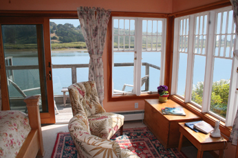Merlin interior with a great view at The Jenner Inn, California