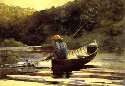 """Boy Fishing"" by Winslow Homer"