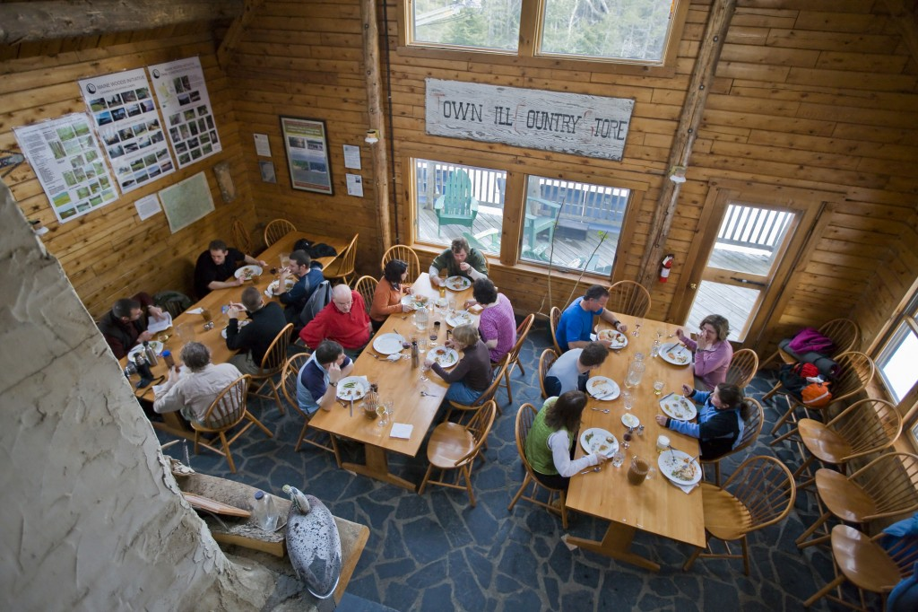 Dining at Maine's Little Lyford Lodge & Camps. photo courtesy of AMC