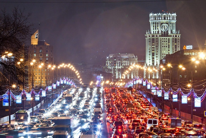 A classic Moscow traffic jam