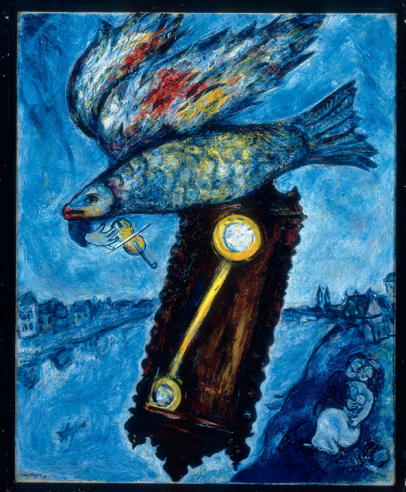 """Marc Chagall, """"Time is a River without Banks,"""" 1930-1939, oil on canvas, 40 ½ x 32 5/8 in. Collection of Kathleen Kapnick, New York. © 2013 Artists Rights Society (ARS), New York / ADAGP, Paris"""