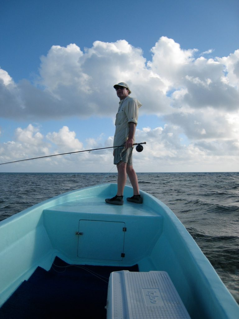 Joe scans the horizon for permit in Belize
