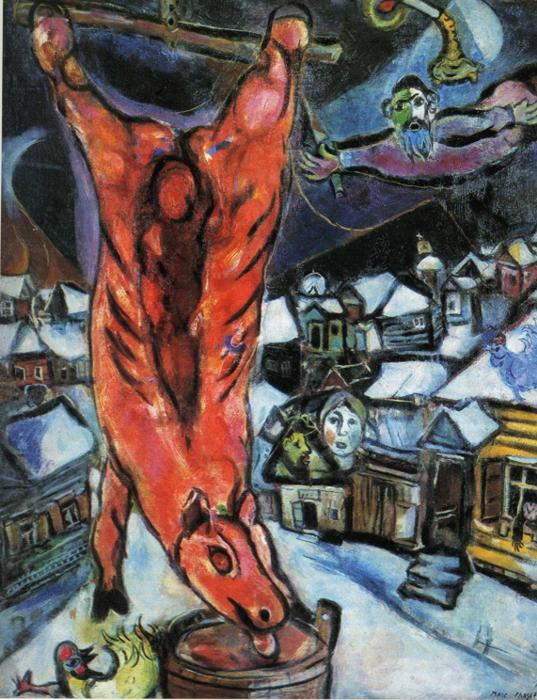 """Marc Chagall, """"The Flayed Ox,"""" 1947. Musée National d'Art Modern Centre Georges Pompidou"""
