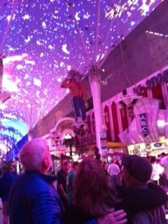 Millions of flashing lights and a super sound system highlight the Fremont Street Experience. By Julie Snyder