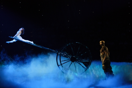 """Cirque du Soleil performed """"Lucy in the Sky with Diamonds"""" during """"LOVE"""" at The Mirage. Photo courtesy of The Mirage."""