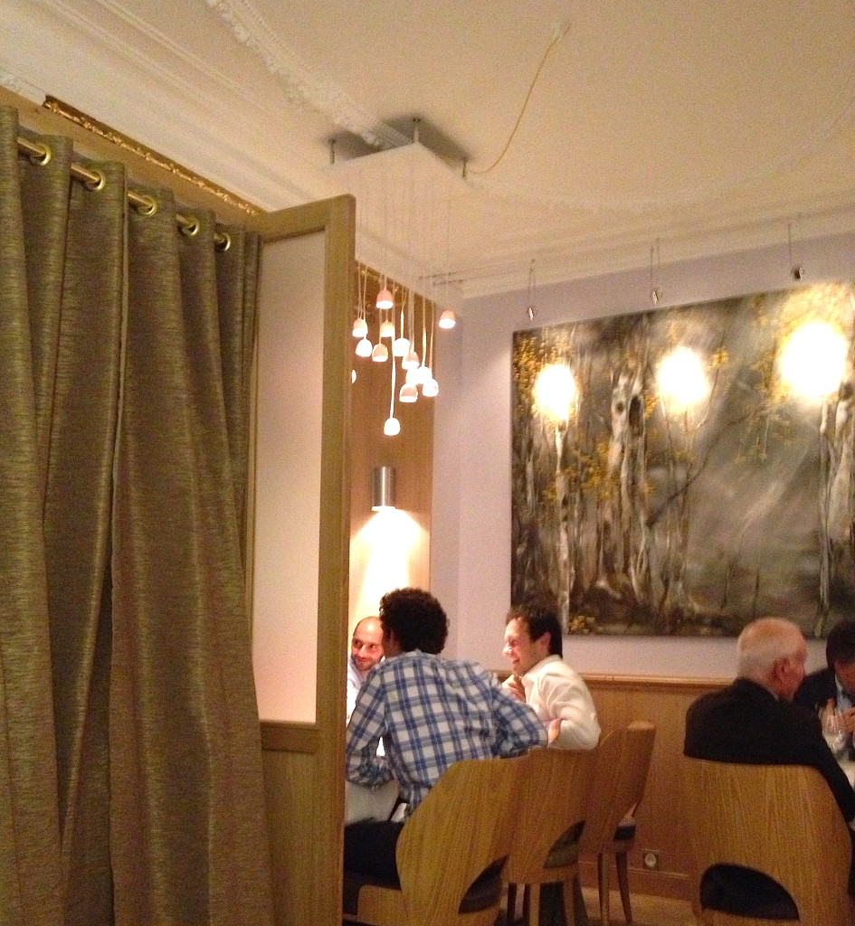 The dining room at La Table d' Eugene, Paris