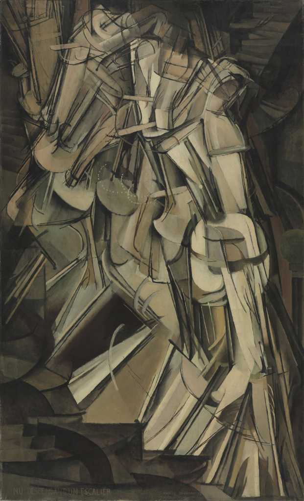 Marcel Duchamp (French, 1887-1968), Nude Descending a Staircase (No. 2), 1912. Oil on canvas, 57 7/8 x 35 1/8 in. Philadelphia Museum of Art, The Louise and Walter Arensberg Collection, 1950
