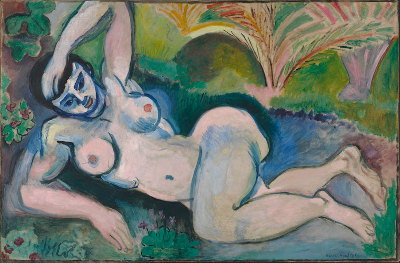 Henri Matisse (French, 1869-1954), Blue Nude, 1907. Oil on canvas, 36 ¼ x 55 ¼ in. The Baltimore Museum of Art: The Cone Collection, formed by Dr. Claribel Cone and Miss Etta Cone of Baltimore, Maryland, BMA 1950