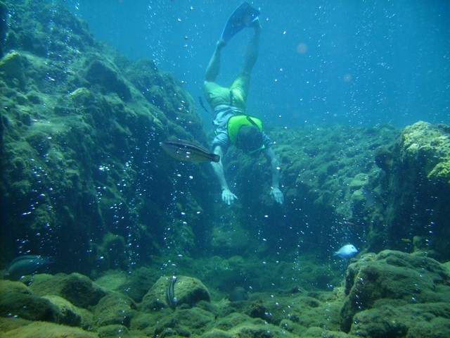 Snorkeling on Champagne Reef, Dominica