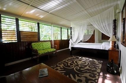 A suite at Papillote Wilderness Retreat on Dominica.