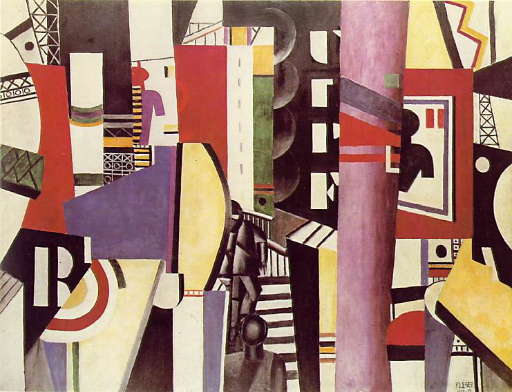 The City, 1919, Fernand Léger, French, 1881 – 1955, Oil on canvas, 7 feet 7 inches x 9 feet 9 1/2 inches (231.1 x 298.4 cm), Philadelphia Museum of Art, A. E. Gallatin Collection, 1952, © Artists Rights Society (ARS), New York / ADAGP, Paris