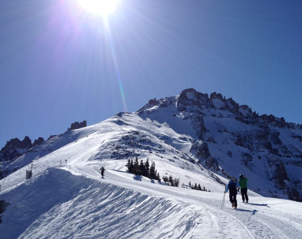 Bluebird day at Telluride.