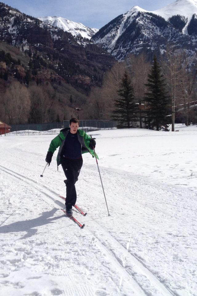 On the skinny skis at Telluride.