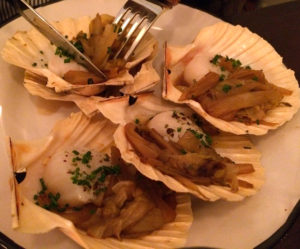 Erquy scallops at Bistro Bellet