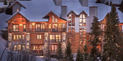 "Not your grandfather's ski house: this ""single family"" rental home in Steamboat Springs, CO sleeps 32 and spans 14,000 square feet with Great Rooms and gourmet kitchens on every floor. Courtesy of Moving Mountains."