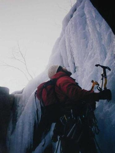 Ice climbing with Steve Nichapor on Mt Washington, New Hampshire
