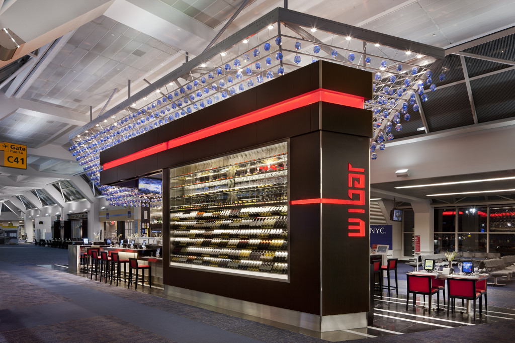 Wibar offers 100 wines by the glass, one of the new dining and drinking options from Delta and OTG at LaGuardia Airport