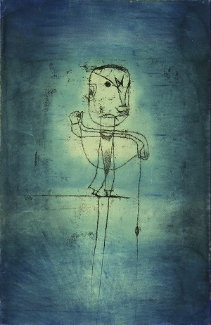 Paul Klee (1879-1940) The Angler, 1921 Watercolor, transfer drawing and ink on paper 18 7/8 x 12 3/8 in. (50.5 x 31.8 cm) The Museum of Modern Art, New York. John S. Newberry Collection Digital Image © 2014 The Museum of Modern Art/Licensed by SCALA/ Art Resource, NY © 2014 Artists Rights Society (ARS), New York