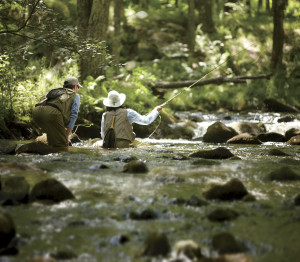 Fly fishing at L.L. Bean's Outdoor Discovery Schools