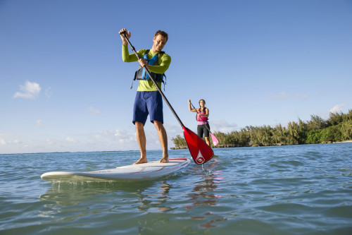 Paddle boarding at L.L. Bean's Outdoor Discovery Schools