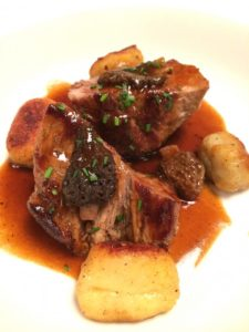 Roast veal and gnocci