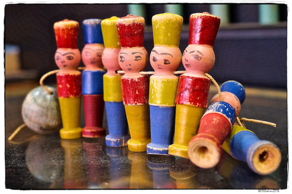 Wooden Soldiers at Le Marché aux Puces. Photo by Deborah Loeb Bohren