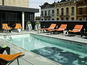 The outdoor pool at Sixty LES