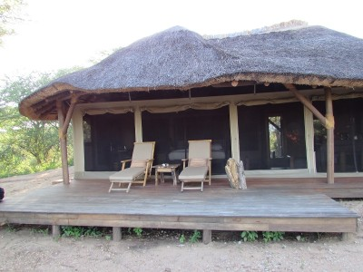My accommodations at Oliver's Camp, with roaring lions at no extra charge