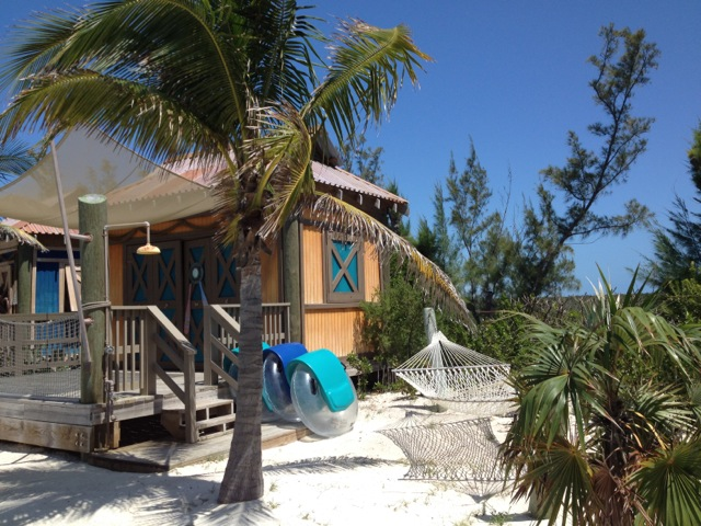 A cabana at Castaway Cay. Photo by Liliane Opsomer