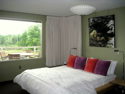 Guest room at Guesthouse at Five Field Farm in Williamstown, MA